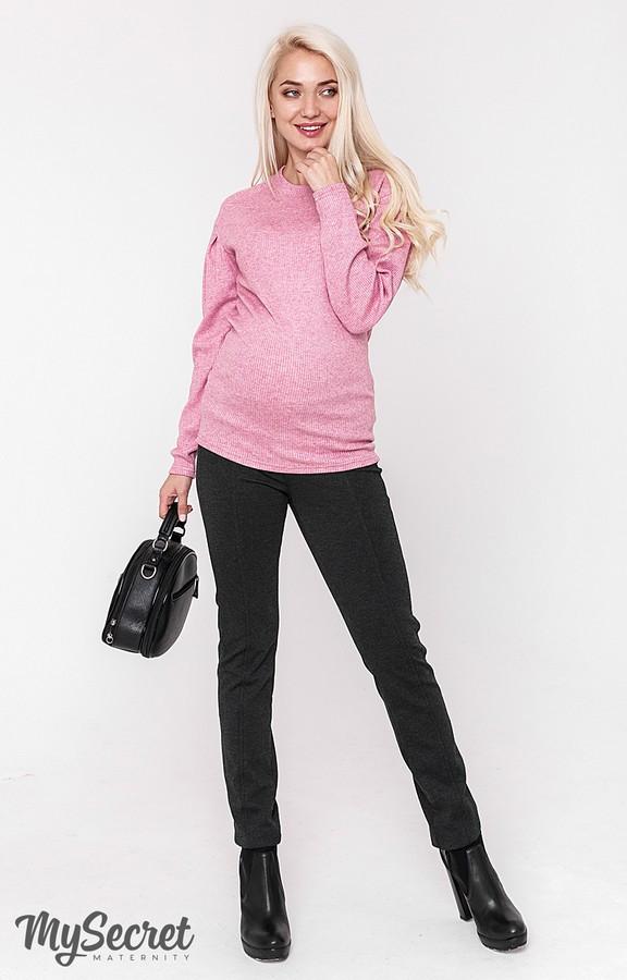 Теплые брюки-лосины для беременных ESHLEY WARM TR-48.162, антрацитовые