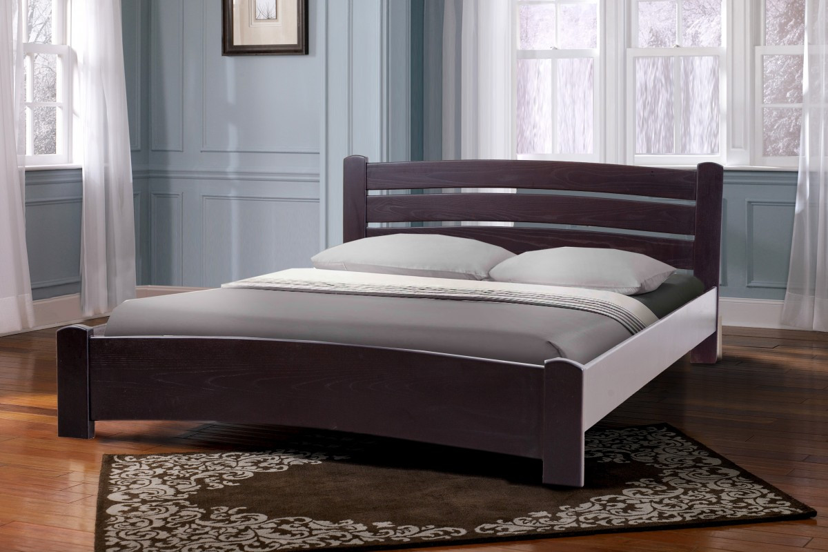 Ліжко двоспальне160*200 вільха темний горіх  в спальню Софія Елегант Мікс Меблі