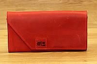 Кожаное портмоне красного цвета фирмы Grande Pelle (13947), фото 1