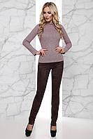 Женские брюки из искусственной замши Ария