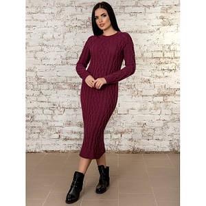 Платье вязанное длинна 108 см