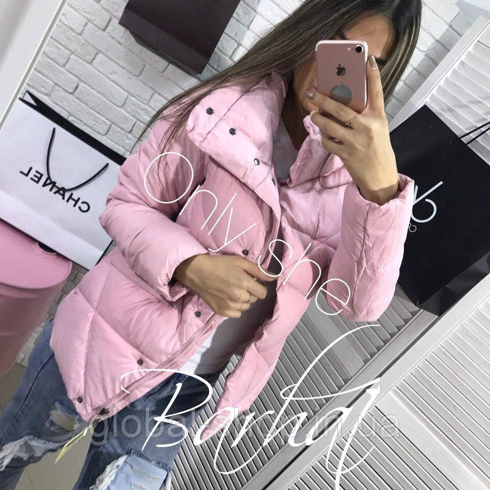 Женская куртка Плащевка + Синтепон 200,3 цвета,Размеры - 42-44, 44-46! мод 0238