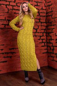 Платье вязанное ЛАЛА, длинна 120см