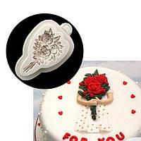 Молд силиконовый Цветы Букет из роз