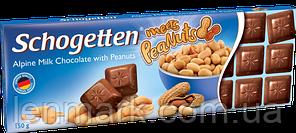 Молочный шоколад Schogetten  «Alpine Milk Chocolate with Peanuts  (с арахисом) Felix 150 г