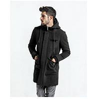Мужское пальто из кашемира с большими карго карманами