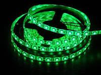 Светодиодная лента 5050 Зеленая, 5 метров 300 светодиодов, 72W, 12V, 120 град, сегменты резки по 5см, на катушке