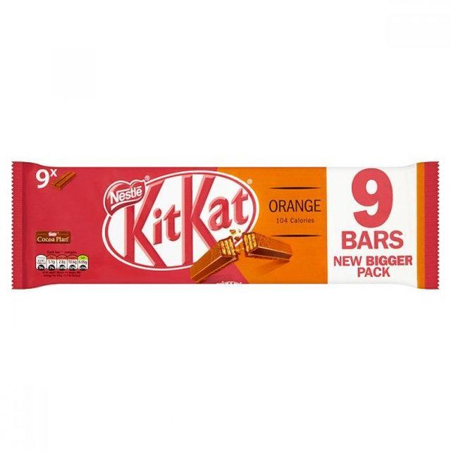 Батончики Kit Kat Orange Упаковка 9 Bars