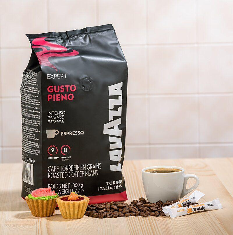 Кофе в зернах Lavazza Gusto Pieno Vending 1кг. Лавацца Оригинал, Италия!