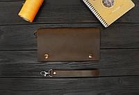 Кожаный мини-клатч ручной работы VOILE cl2-brn-org
