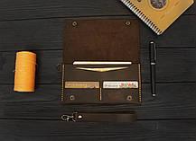 Кожаный мини-клатч ручной работы VOILE cl2-brn-org, фото 3