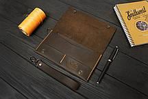 Кожаный мини-клатч ручной работы VOILE cl2-brn-org, фото 2