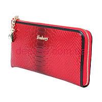 Красный лаковый женский кошелек под крокодиловую кожу De Esse