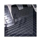 Коврики салона (резиновые, черные) avto-gumm Nissan Almera N16 (ниссан альмера) 2000-2005, фото 4
