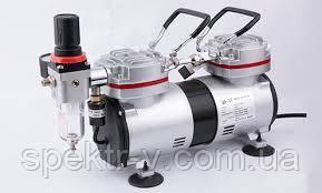 Компрессор двухцилиндровый для аэрографа 35-40л/мин Fengda AS-19