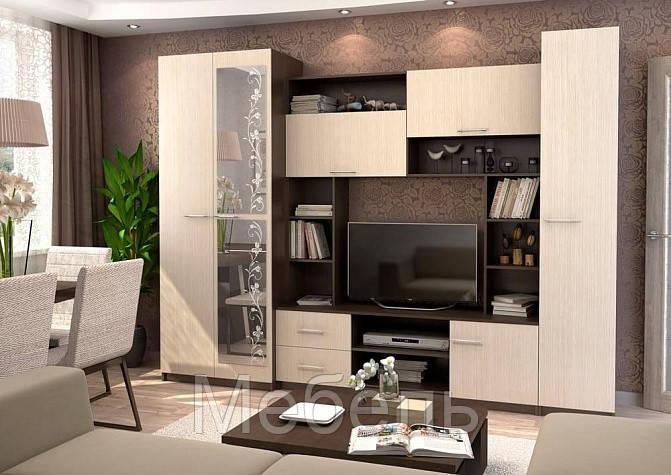 Гостиная модульная Марта 11 Сурская мебель 2128*2550*446