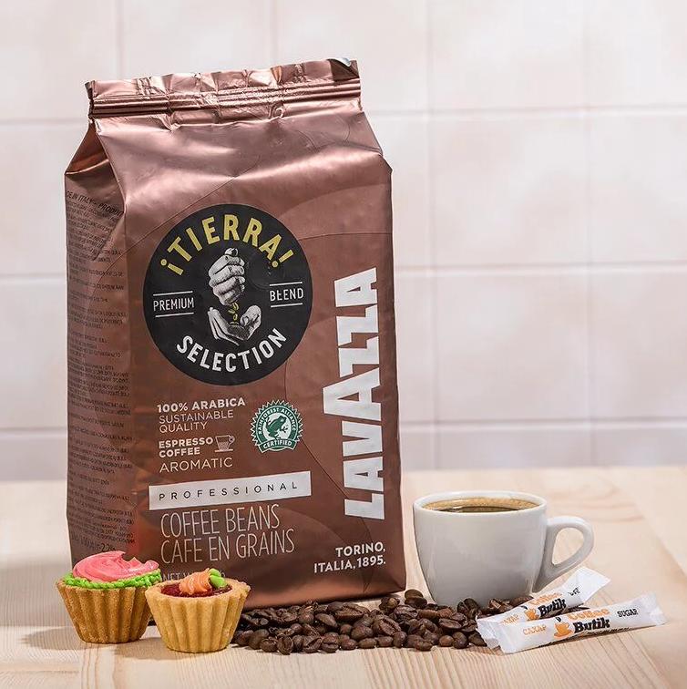 Кофе в зернах Lavazza Tierra Selection 100% Арабика 1кг. Лавацца Оригинал, Италия!