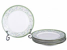 """Набор из 6 тарелок """"Эмили"""" 19 см, фарфор 924-005"""