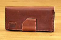 Портмоне из плотной натуральной кожи коричневого цвета Grande Pelle (14186), фото 1