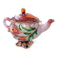 Шкатулка сувенир из металла Чайник