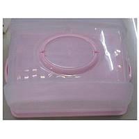 Тортовница пластик прямоуг с крышкой R86494 (24шт)