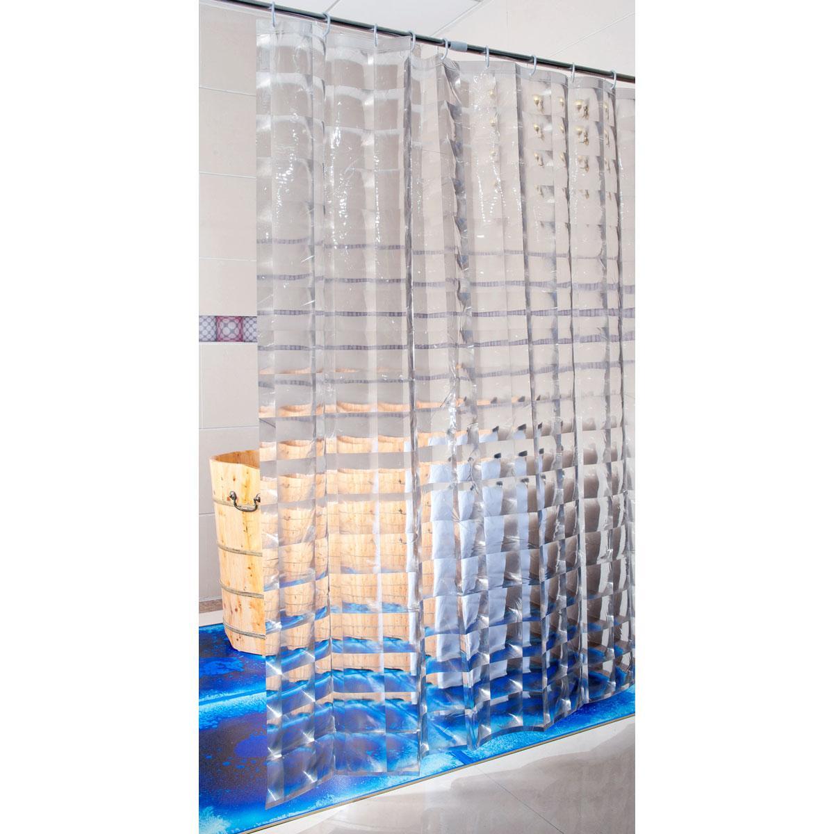 Шторка для ванны с 3D эффектом 180х200