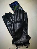 Перчатки мужские из натуральной кожи сенсорные