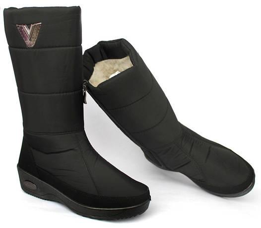 39р Чоботи зимові для жінок з пряжкою чорного кольору (БР-22ч ... 83871139535cf