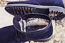 Зимние ботинки дезерты мужские синие замшевые размер 40, 41, 42, 43, 44, 45, фото 2