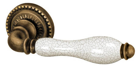 Ручка раздельная Silvia CL-1-OB/CRP-213 античная бронза/кракелюр