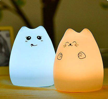 """Детский ночник — светильник """" Веселый котенок"""" 3DTOYSLAMP, фото 1"""