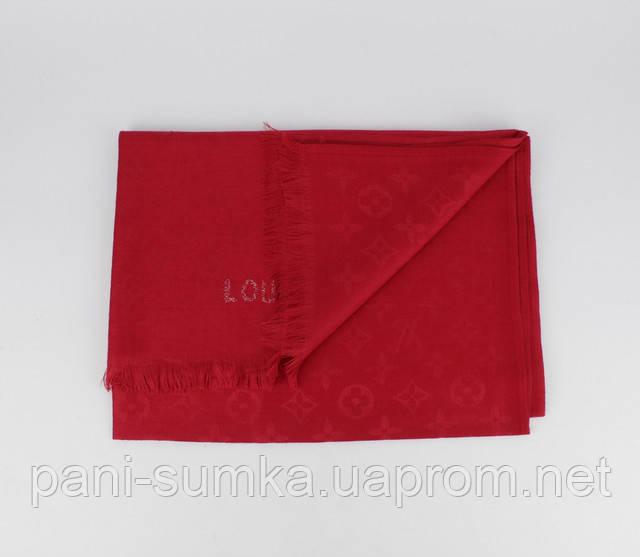Кашемировый палантин Louis Vuitton 8881-24 красный двусторонний ... a9206584b42