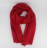 Кашемировый палантин Louis Vuitton 8881-24 красный двусторонний, фото 1