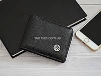 Кожаная обложка для прав, водительских документов Mackses с логотипом VOLKSWAGEN