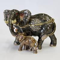Шкатулка для драгоценностей Слон и слоненок
