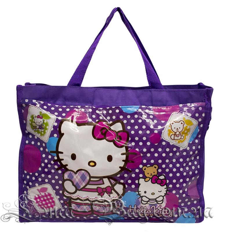 4164efdd6c74 Детская Пляжная Сумка (Hello Kitty) 2 Цвета Фиолетовый — в Категории