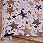 Новогодняя бумага в рулоне 10 метров, арт 18, фото 2