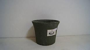 Кашпо горщик для квітів декоративна зелений