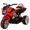 Детский мотоцикл M 3928 L-3: 35W, кожаное сиденье - Красный купить оптом