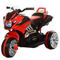 Детский мотоцикл M 3928 L-3: 35W, кожаное сиденье - Красный купить оптом, фото 1