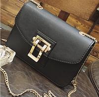 Женский клатч сумка на цепочке Olivia Черный, фото 1