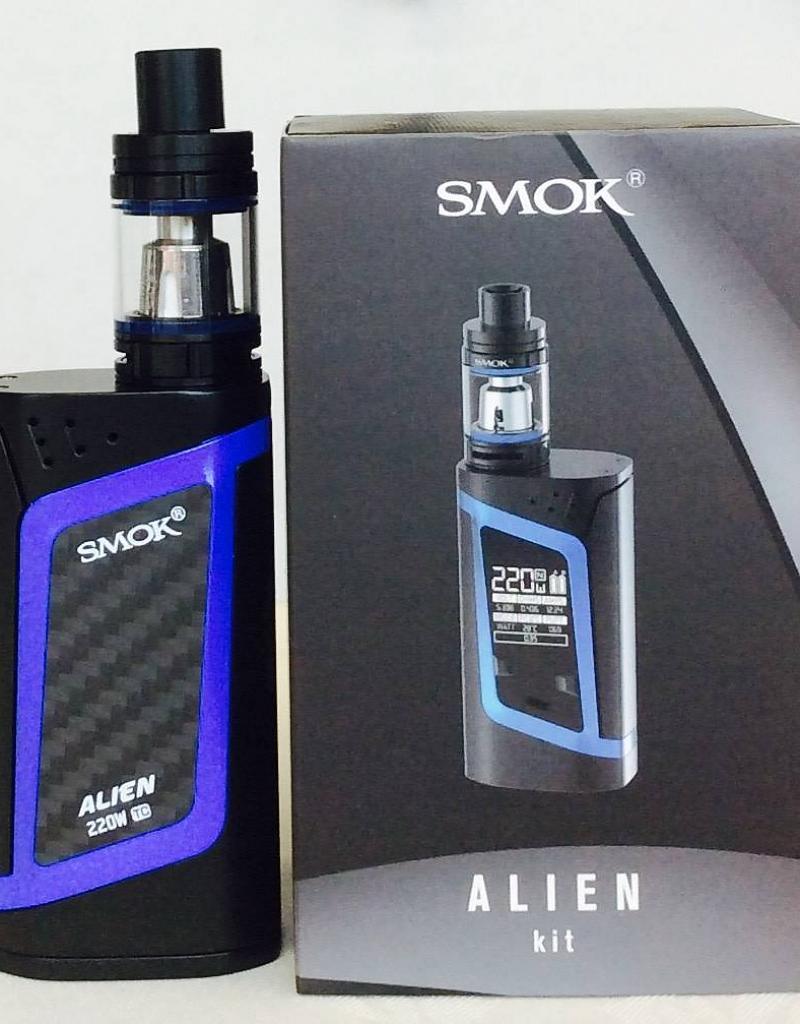 Электронная сигарета SMOK Alien Kit 220W. Вейп. Стартовый набор(полный комплект) Blue