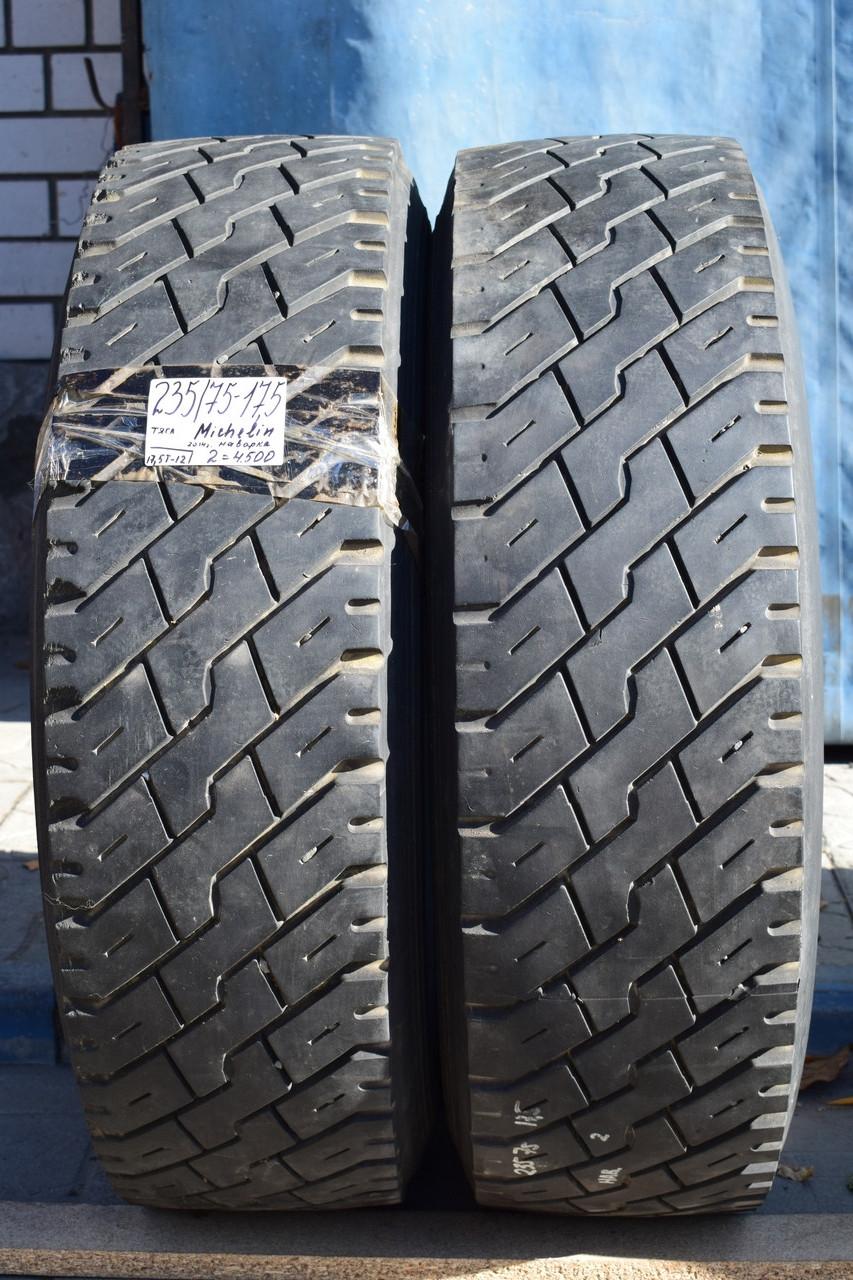 Грузовые шины б/у 235/75 R17.5 Michelin, ТЯГА, пара