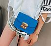 Женский клатч сумка через плечо в стиле Furla Синий, фото 3