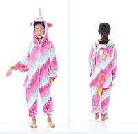 Пижама кигуруми для детей Единорог розово-голубой c16af643d4603