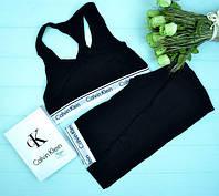 Набор топ и лосины женский цвет черный брендовый Кельвин Кляйн