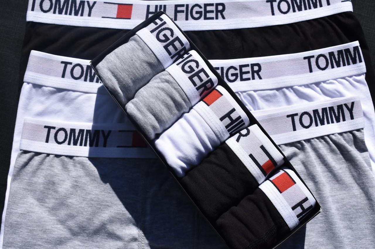 7e9a8635b8eaa Трусы мужские набор 5 шт серые черные белые синие боксеры от бренда Томми  Хелфигер - Магазин