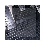 Коврики салона (резиновые, черные) avto-gumm  Renault Clio 2 (рено клио 1998г-2005г), фото 4