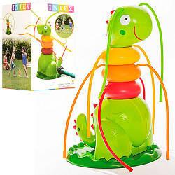 Фигура 56599 (6шт) динозавр, 17-17-27см,надувная, распрыскиватель, пластик, в кор-ке, 18-28,5-18см