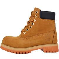abaad418 Ботинки женские Timberland Classic Boots (оранжевые\коричневые) на МЕХУ!  Top replic
